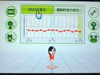 Wii Fit Plus BMIの推移表