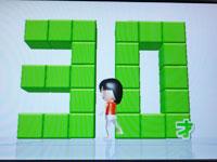 Wii Fit Plus 3月20日のバランス年齢 30歳