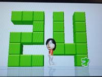 Wii Fit Plus 4月4日のバランス年齢 24歳