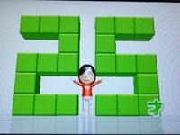 Wii Fit Plus 4月8日のバランス年齢 25歳