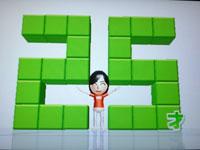 Wii Fit Plus 4月16日のバランス年齢 25