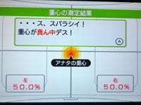 Wii Fit Plus 4月17日の重心の測定結果は真ん中でした!