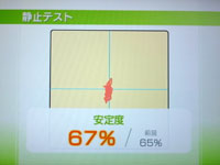 Wii Fit Plus 4月23日のバランス年齢 29歳 静止テスト 安定度 67%