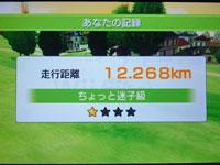 Wii Fit Plus サイクリング結果