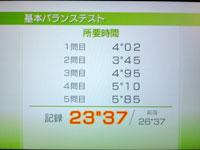 Wii Fit Plus 4月25日のバランス年齢 33歳 基本バランステストその2