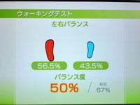 Wii Fit Plus 4月27日のバランス年齢 31歳 ウォーキングテストその2