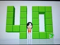 Wii Fit Plus 4月日のバランス年齢 40歳