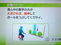 Wii Fit Plus 4月日のバランス年齢 23歳 記憶力テスト説明 その2