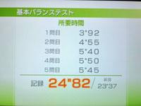 Wii Fit Plus 4月日のバランス年齢 23歳 基本バランス結果