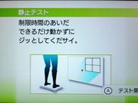 Wii Fit Plus 5月日のバランス年齢 24歳 静止テスト 説明