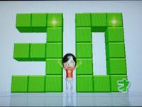 Wii Fit Plus 5月5日のバランス年齢 30歳