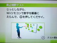 Wii Fit Plus 5月5日のバランス年齢 30歳 周辺視野力テスト 説明