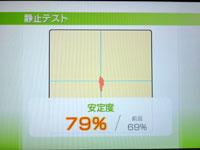 Wii Fit Plus 5月日のバランス年齢 38歳 静止力テスト 結果