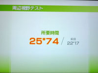 Wii Fit Plus 5月日のバランス年齢 32歳 周辺視野テスト結果