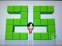Wii Fit Plus 5月13日のバランス年齢 25歳