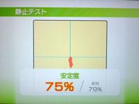 Wii Fit Plus 5月13日のバランス年齢 25歳 静止力テスト結果