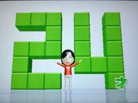 Wii Fit Plus 5月15日のバランス年齢 24歳