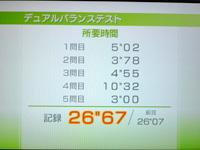 Wii Fit Plus 5月18日のバランス年齢 34歳 デュアルバランステスト結果