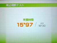Wii Fit Plus 5月20日のバランス年齢 24歳 周辺視野テスト結果