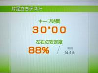 Wii Fit Plus 5月20日のバランス年齢 24歳 片足立ちテスト結果