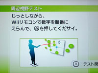 Wii Fit Plus 5月20日のバランス年齢 24歳 周辺視野テスト説明