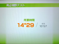 Wii Fit Plus 5月日のバランス年齢 21歳 周辺視野テスト結果