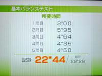 Wii Fit Plus 5月26日のバランス年齢 21歳 基本バランステスト結果