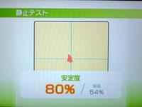 Wii Fit Plus 5月31日のバランス年齢 21歳 静止テスト結果
