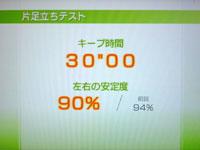Wii Fit Plus 6月1日のバランス年齢 21歳 片足立ちテスト結果