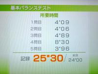 Wii Fit Plus 6月12日のバランス年齢 23歳 基本バランステスト結果