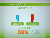 Wii Fit Plus 6月14日のバランス年齢 27歳 ウォーキングテスト結果