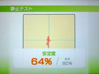 Wii Fit Plus 6月15日のバランス年齢 28歳 静止力テスト結果