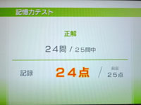 Wii Fit Plus 6月15日のバランス年齢 28歳 記憶力テスト結果