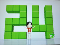 Wii Fit Plus 6月21日のバランス年齢 24歳