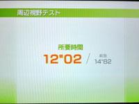 Wii Fit Plus 6月21日のバランス年齢 24歳 周辺視野テスト結果