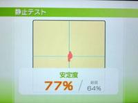 Wii Fit Plus 6月21日のバランス年齢 24歳 静止力テスト結果