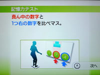 Wii Fit Plus 6月22日のバランス年齢 22歳 記憶力テスト説明