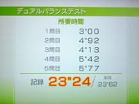 Wii Fit Plus 6月28日のバランス年齢 29歳 デュアルバランステスト結果