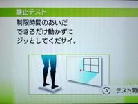 Wii Fit Plus 6月28日のバランス年齢 29歳 静止力テスト説明