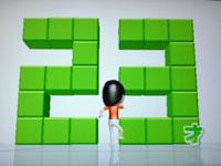Wii Fit Plus 6月30日のバランス年齢 23歳