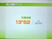 Wii Fit Plus 7月5日のバランス年齢 21歳 周辺視野テスト結果