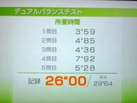 Wii Fit Plus 7月14日のバランス年齢 30歳 デュアルバランステスト結果