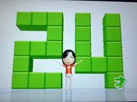 Wii Fit Plus 7月19日のバランス年齢 24歳
