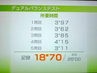 Wii Fit Plus 7月19日のバランス年齢 24歳 デュアルバランステスト結果