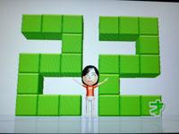 Wii Fit Plus 7月22日のバランス年齢 22歳