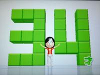 Wii Fit Plus 7月23日のバランス年齢 34歳