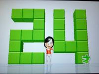 Wii Fit Plus 7月24日のバランス年齢 24歳