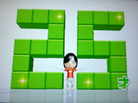 Wii Fit Plus 7月25日のバランス年齢 25歳