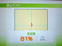 Wii Fit Plus 7月27日のバランス年齢 23歳 静止テスト結果