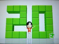 Wii Fit Plus 7月29日のバランス年齢 20歳